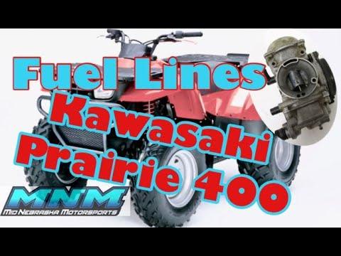 Kawasaki Prairie 400 Carburetor Coolant Line Hose Routing Cooling Line Carb Fuel Gas Youtube