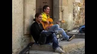 Flamenco callejero en Caceres 2010