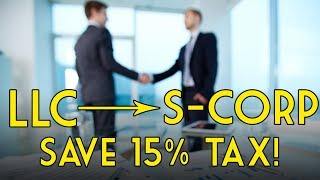 S-Corp VS LLC Partnership: How to Pay Less Tax!