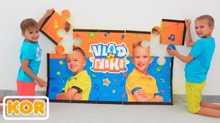 블라드와 니키가 장난감을 가지고 놀며 엄마와 즐거운 시간을 보내세요 | 아이들을위한 컬렉션 비디오