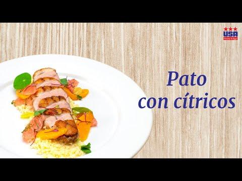 Magret de pato con cítricos