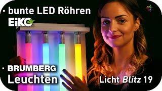bunte T8 LED Röhren rote gelbe grüne blaue   Brumberg Deckenleuchten neu im Shop   Lichtblitz 19