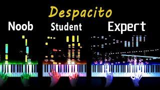 5 Levels of Despacito (Piano): Noob to Expert