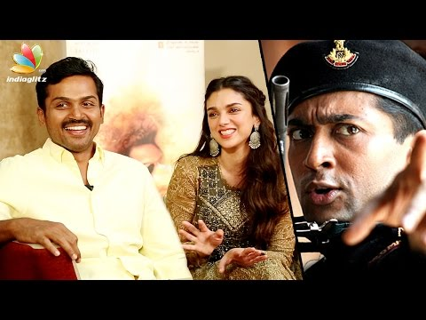Karthi Interview : Happy To Be Compared With Surya in 'Vaaranam Aayiram' | Aditi Rao Hydari