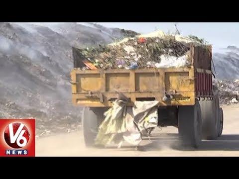 Greater Warangal Municipal Officials Garbage Dumping Vehicles Scam | V6 News