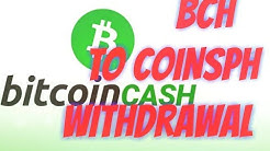 HOW TO WITHDRAW BITCOIN CASH (BCH) USING COINSPH IN COINPOT (TAGALOG)