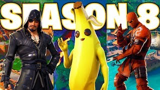 FORTNITE SEASON 8! New Battle Pass, Map Changes, Volcano, Lazy Lagoon, Item Shop!