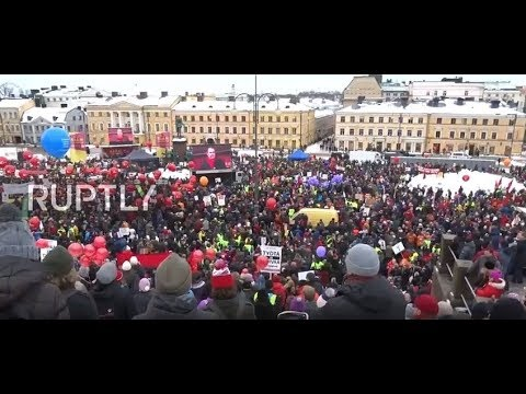 Finland: Thousands denounce unemployment benefit cuts in Helsinki