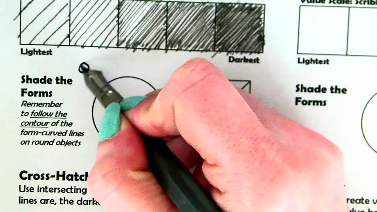 Pen Ink Technique Worksheet Youtube
