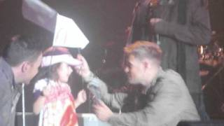 Nicky Byrne speech and Beautiful tonight. Live at the marquee 2011.  (front row)