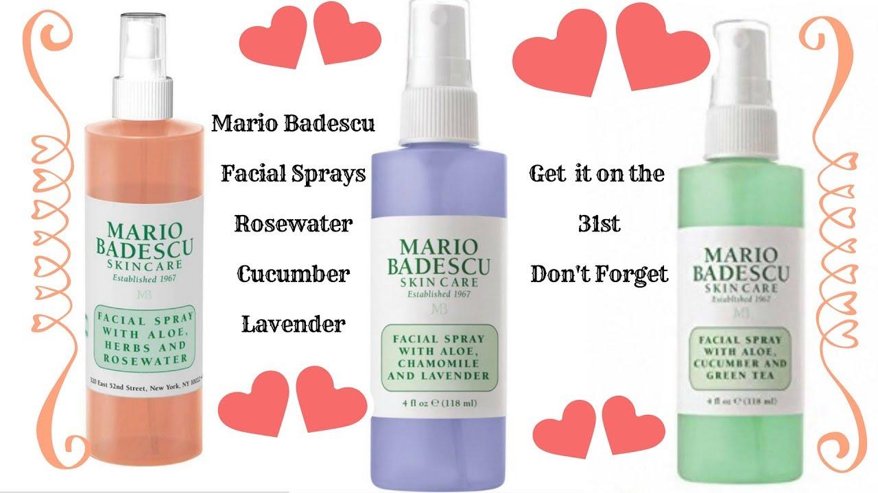Mario Facial Sprays Rosewater Cucumber Lavender
