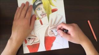 Speed drawing Deidara ( Naruto Shippuden )