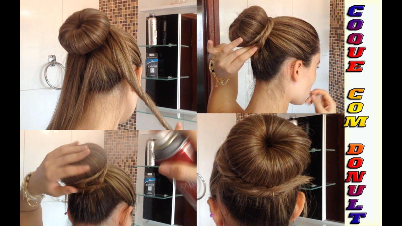 dica coque para cabelos comprido com donult youtube