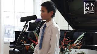 Michael Li - WKMT Music Festival VIII - Singing and Piano