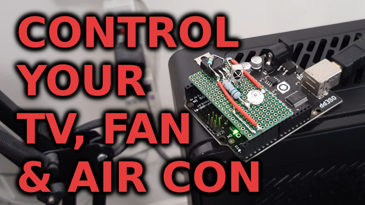 Arduino Home Automation: Control Your TV, Air Conditioner, Fan, etc  with  an Infrared Transmitter