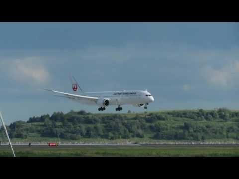 Japan Airlines Boeing 787-9 Landing In Boston [HD] - June 11, 2016