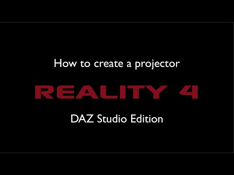 How to create a projector in Reality - DAZ Studio Edition