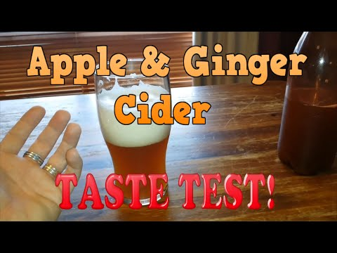 Spiced Apple & Ginger Cider TASTE TEST