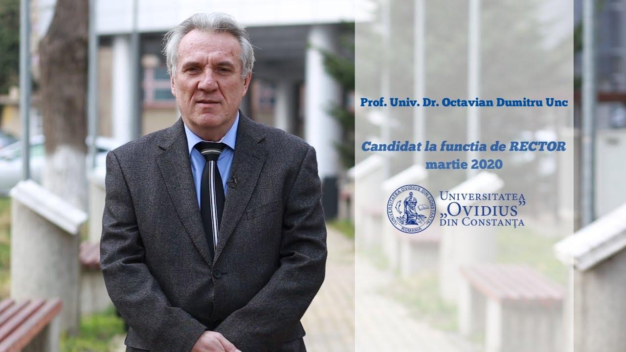 AM DEPUS DOSARUL DE CANDIDATURA PENTRU FUNCTIA DE RECTOR ...  |Octavian Dumitru Unc