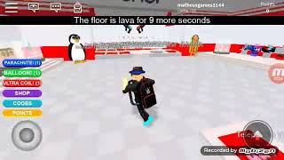 Playing floor is lava (ROBLOX) ✌✌ Matheus Games BR oficial
