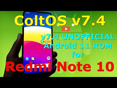 ColtOS v7.4 UNOFFICIAL for Redmi Note 10 ( Mojito / Sunny ) Android 11