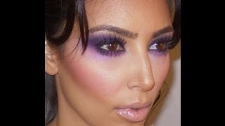 Kim Kardashian Purple Smokey Eye Tutorial Thumbnail