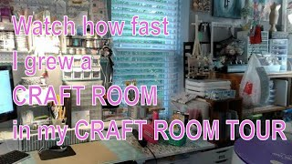 2015 Small Space Craft Room Tour!     Craftroom/bedroom