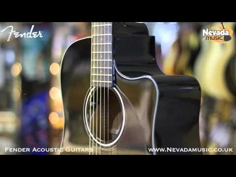 Fender CD60CE Electro Acoustic Guitar in Black - Quick Look @ PMT Portsmouth