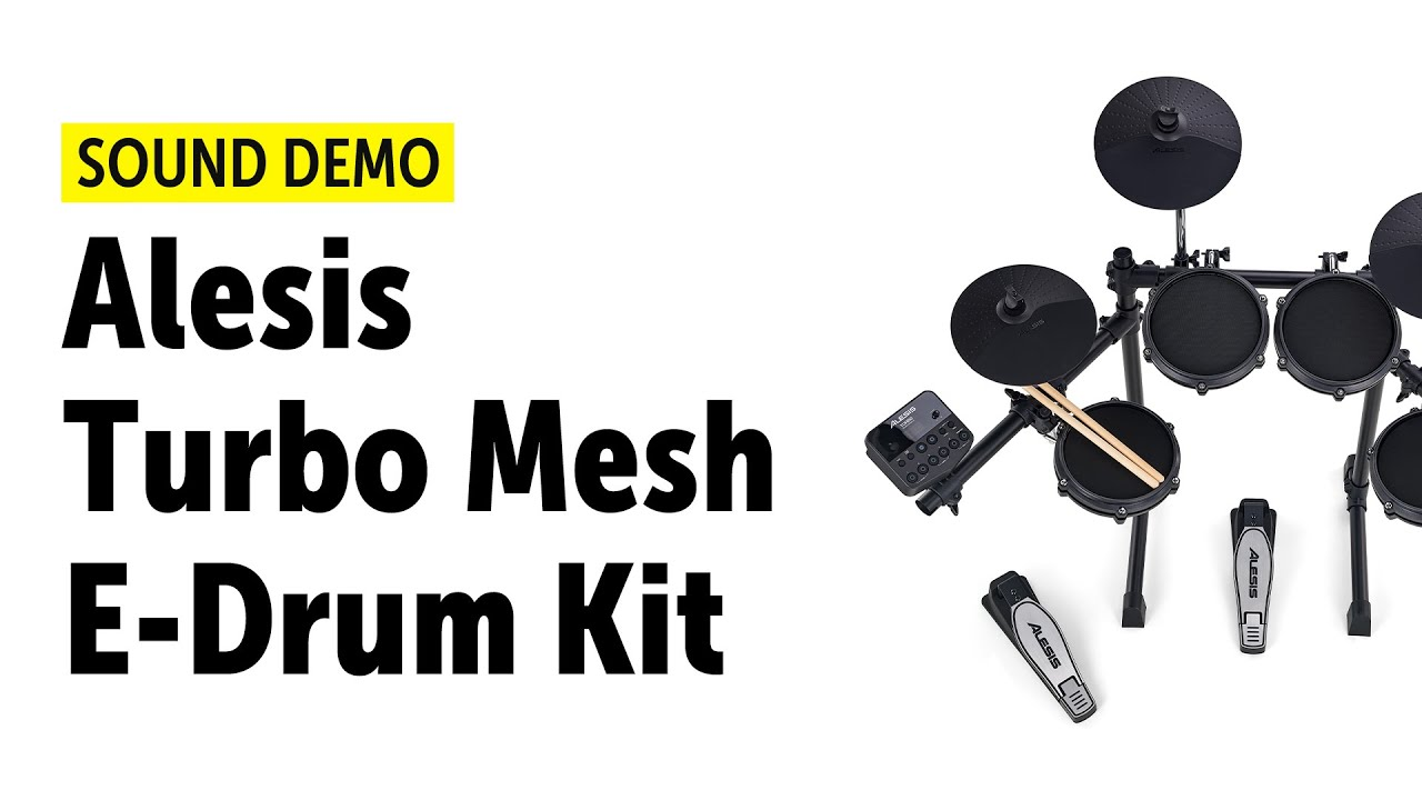 Alesis Turbo Mesh 7-Piece Electronic Drum Kit with Mesh Heads