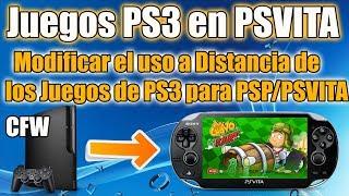 Juegos de PS3 en PSVITA Modificados con Uso a Distancia - Modificando PARAMsfo