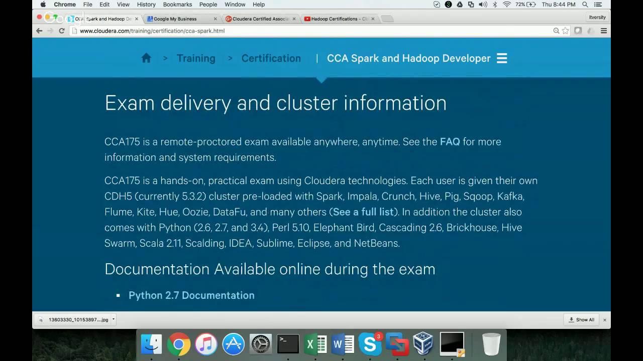 Cloudera Certified Associate Spark And Hadoop Developer Cca175