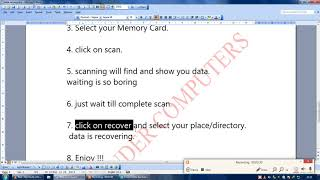 Memory Card (Micro SD) And Hard Data Recovery
