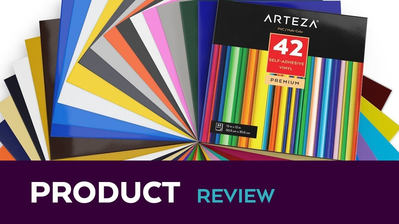 Arteza Heat Transfer Vinyl Arteza Self Adhesive Vinyl Set Of 42