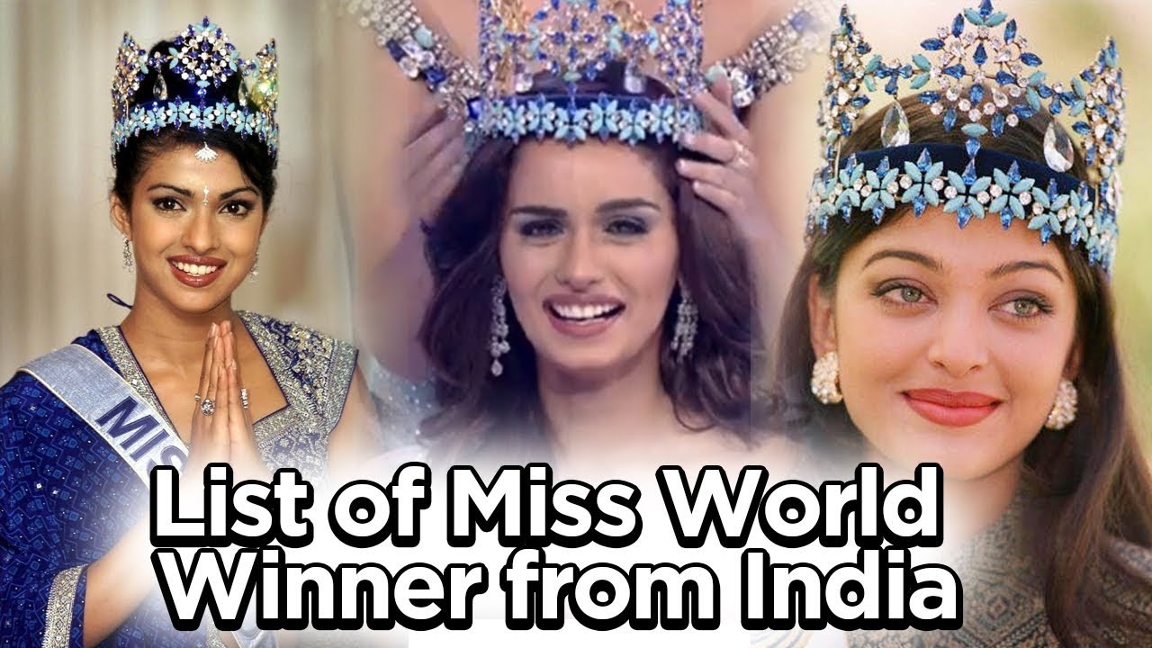 All Miss World From Reita Faria to Manushi chillar Miss world from India  2017 | full list