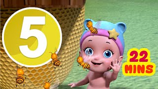Can You See The Bumblebees? Number Song | Nursery Rhymes for Children | Infobells