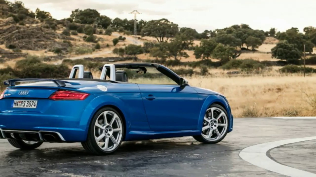 2018 audi tt rs roadster it also has less trunk space