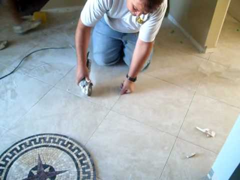 Install A Ceramic Tile Floor Medallion