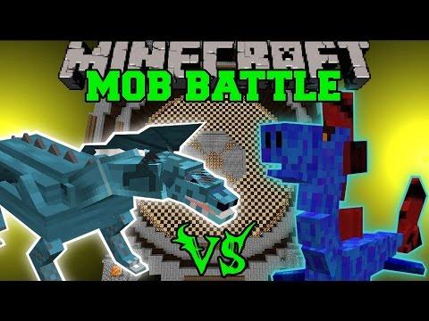FROST DRAGON VS WATER DRAGON - Minecraft Mob Battles - Minecraft Mods