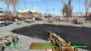 Fallout 4: clearing out Fiddler's Green trailer estates and killin my first glowing one
