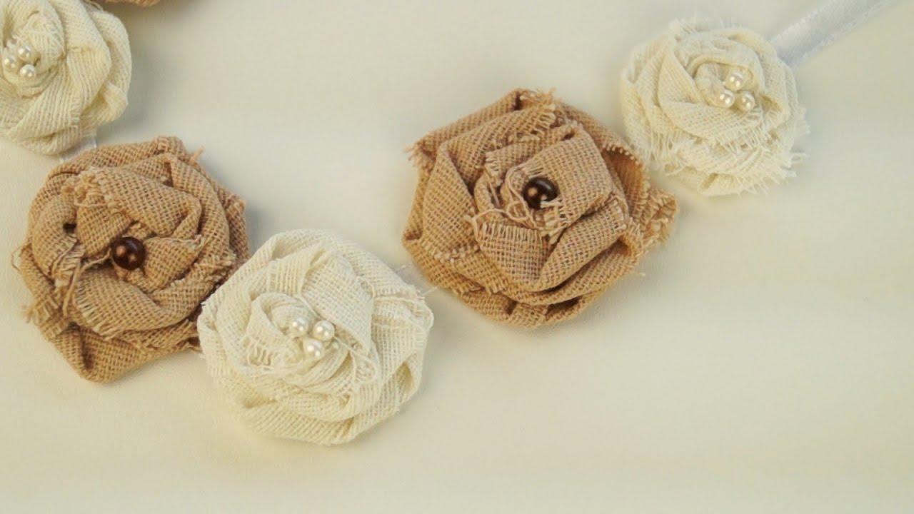Украшения из ткани своими руками цветы