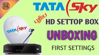 tata sky new hd settop Box unboxing and review Tamil