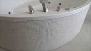 Облицовка экрана акриловой ванны мозаикой, 2 я часть.