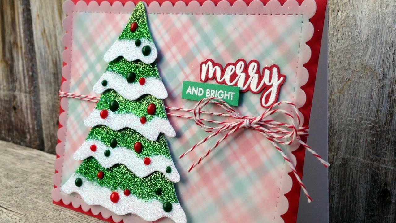 Ombre Glitter Christmas Tree Card - Merry and Bright - A Card Making ...