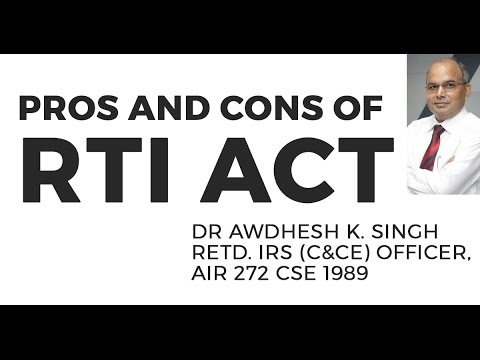 Pros and Cons of RTI Act: GS 4 (UPSC CSE/IAS Exam)