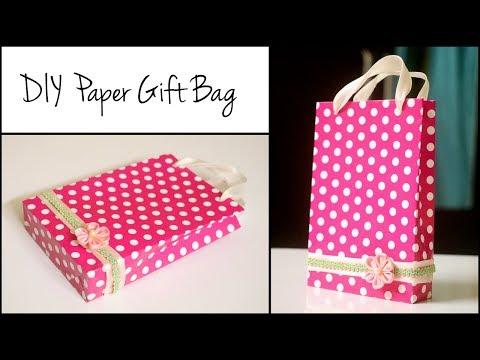 DIY Paper Gift Bag | Handmade Gift Bag Ideas | Paper Crafts EASY !