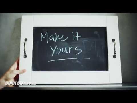 Reclaimed: DIY Chalkboard Tray