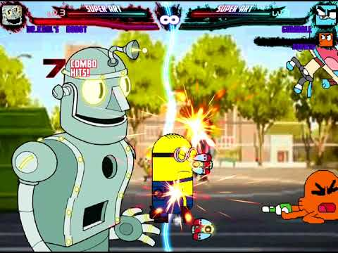 Mugen Request Dr Kahl's Robot vs Gumball,Darwin and Dave Minion