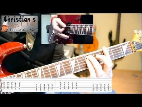 How To Play Offspring SELF ESTEEM Tabs Akkorde E Gitarre Tutorial [HD] Deutsch