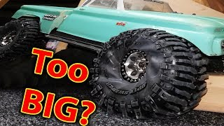 Traxxas TRX 4 Tires Too BIG Full Video