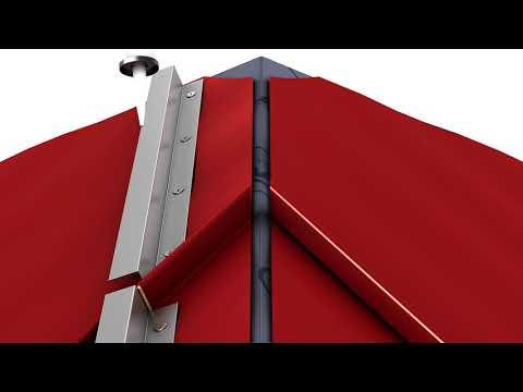 Hip roof installation